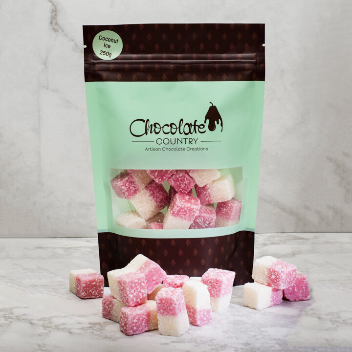 Chocolate Country 1 Carton - 12 Bags Coconut Ice