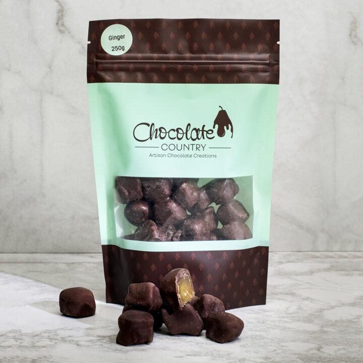 Chocolate Country Dark chocolate coated ginger