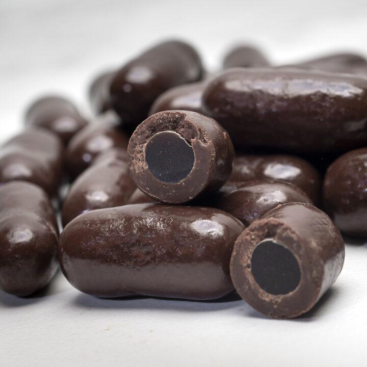 Chocolate Country Dark chocolate coated liquorice bullets