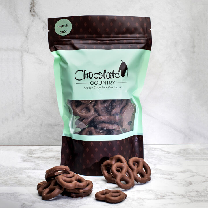 Chocolate Country Milk chocolate coated pretzels