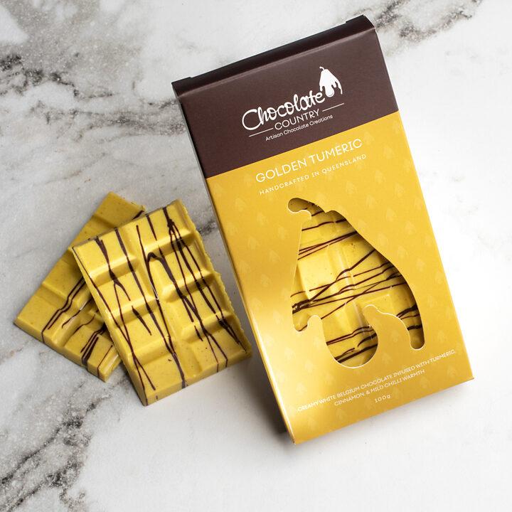 Chocolate Country 100g Chocolate Bar Golden Turmeric