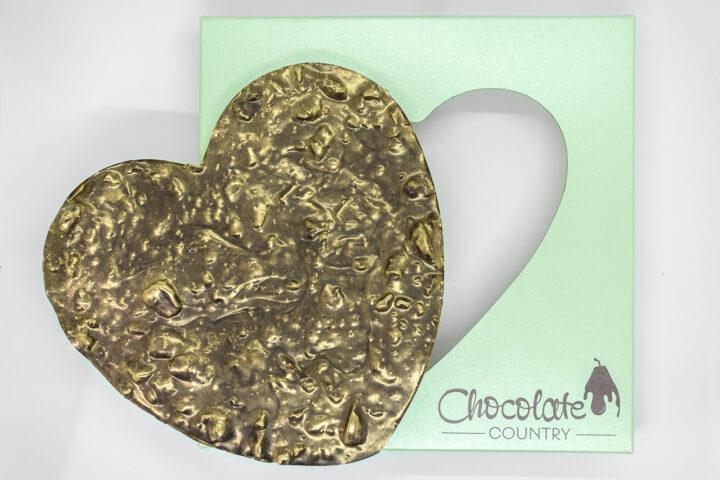 Chocolate Country Large 250 g Dark Belgian Chocolate Heart with Honeycomb