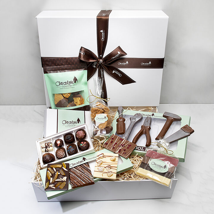 Chocolate Country The chocolate country gift hamper with tool kit