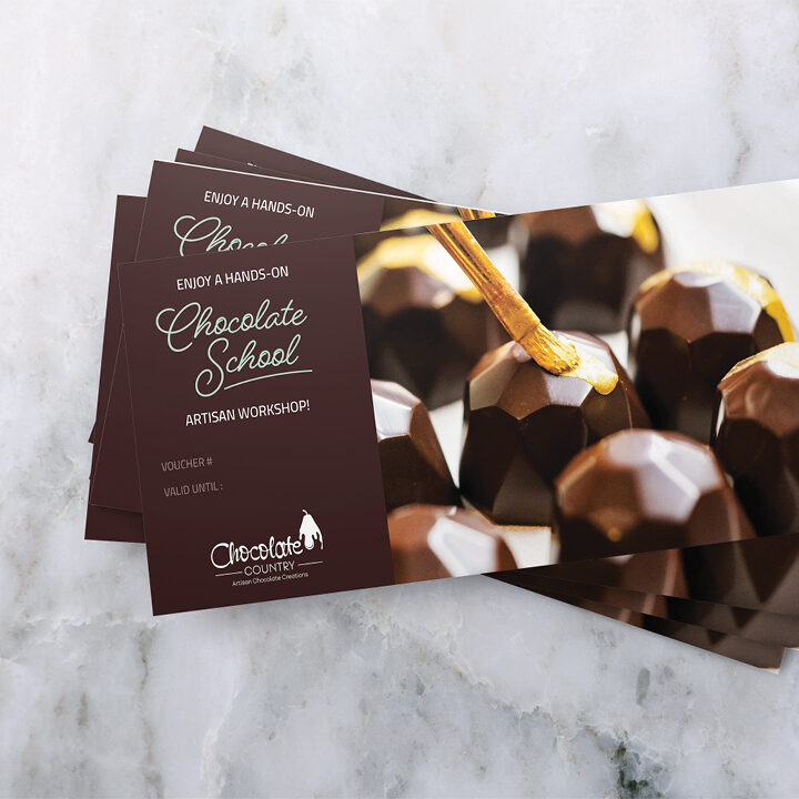 Chocolate Country 2 Hour Chocolate School Voucher