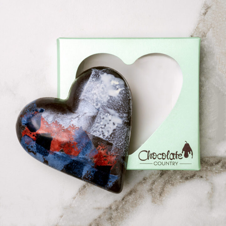 Chocolate Country 1 Carton - 6 x Caramel Dark Chocolate Heart