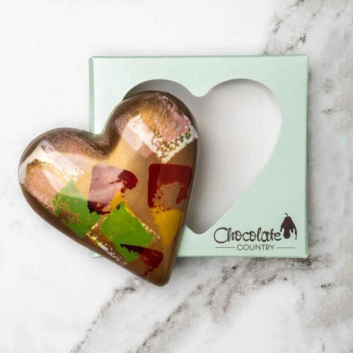 Chocolate Country 1 Carton - 6 x Caramel Milk Chocolate Heart
