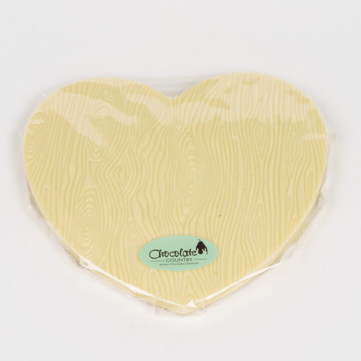 Chocolate Country Large 250 g White Belgian Chocolate Heart