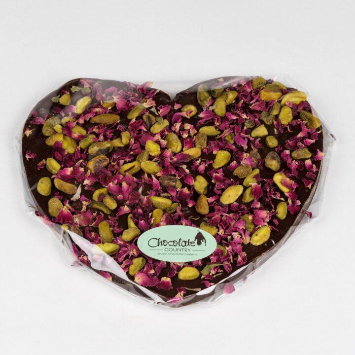 Chocolate Country Large 250 g Dark Belgian chocolate Heart