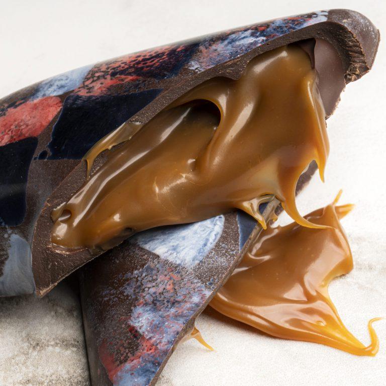 Chocolate Country Caramel Dark Chocolate Heart