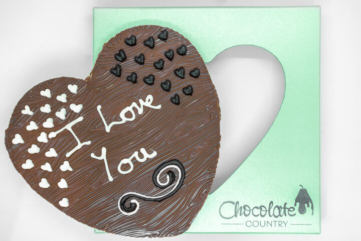 Chocolate Country Large 250 g Heart With I love You Message