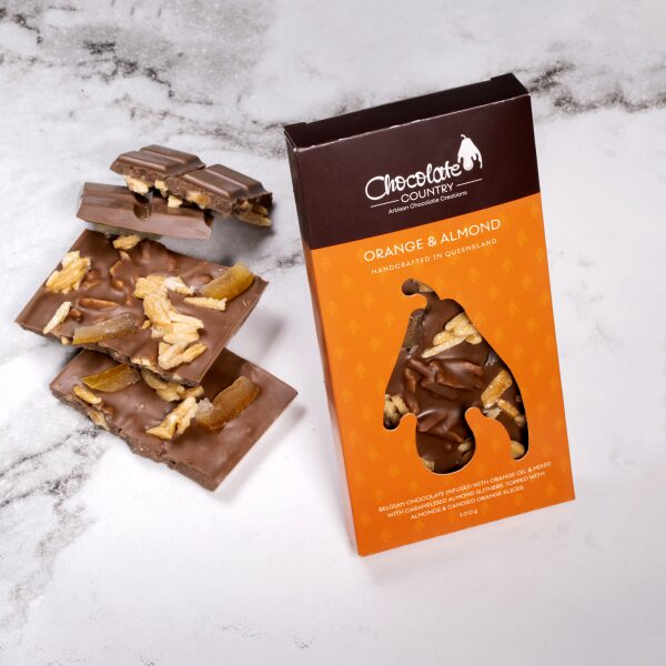 Chocolate Country 100 g Orange & Almond Bar