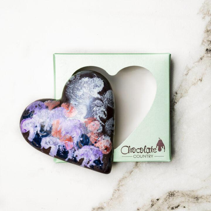 Chocolate Country Praline Dark Chocolate Heart